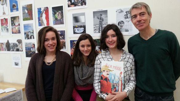 Les lauréats du prix Jean Lecointre, remis par Laurent Vignais (à droite)