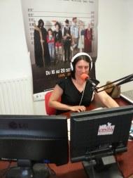Delphine Gastineau, la coordinatrice de la radio associative